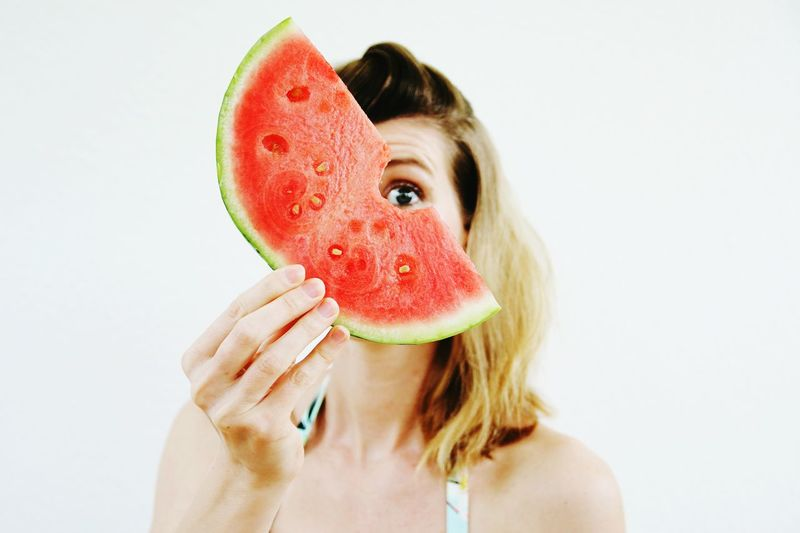 I carried a watermelon. Enjoying Life Minimalism My Fuckin Berlin EyeEm Best Shots EyeEm Gallery The EyeEm Facebook Cover Challenge Colorsplash Eye4photography  Color Portrait