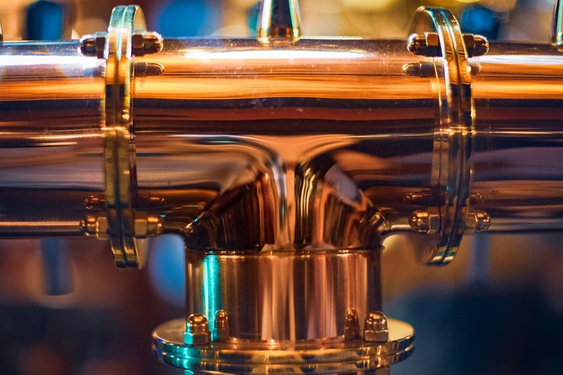 Brewing equipment pipes