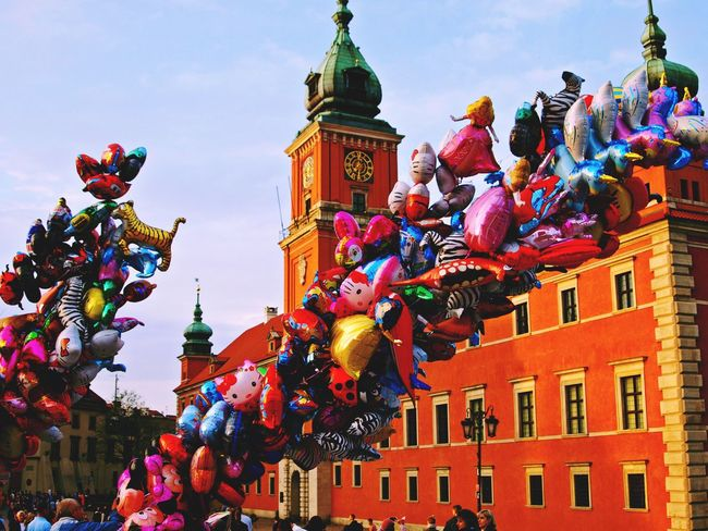 Multi Colored Architecture Building Exterior Built Structure Outdoors City Day Warsaw