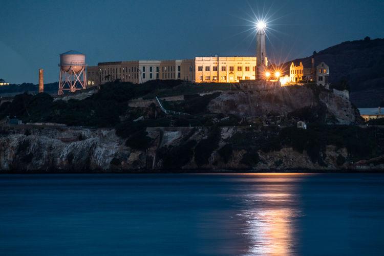 Alcatraz island at night