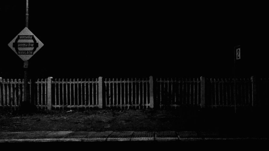 Platform No. 2 of Mangaon Railway Station. This is a Rare place in the deep Westernghats of India. Westernghatsofindia Goa Dark Blackandwhite Silence Horror Night Ontheway Lonely Outdoors No People Bestoftheday EyeEm . Welcome To Black