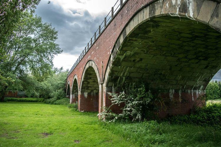 Arches Railway Bridge Storm Clouds Arch Brick Arch