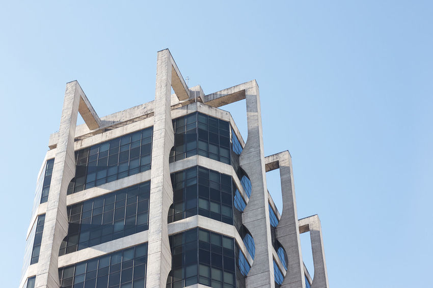 Architecture Blue Blue Sky Built Structure Day Low Angle View No Clouds No People Outdoors Sky Urbam First Eyeem Photo