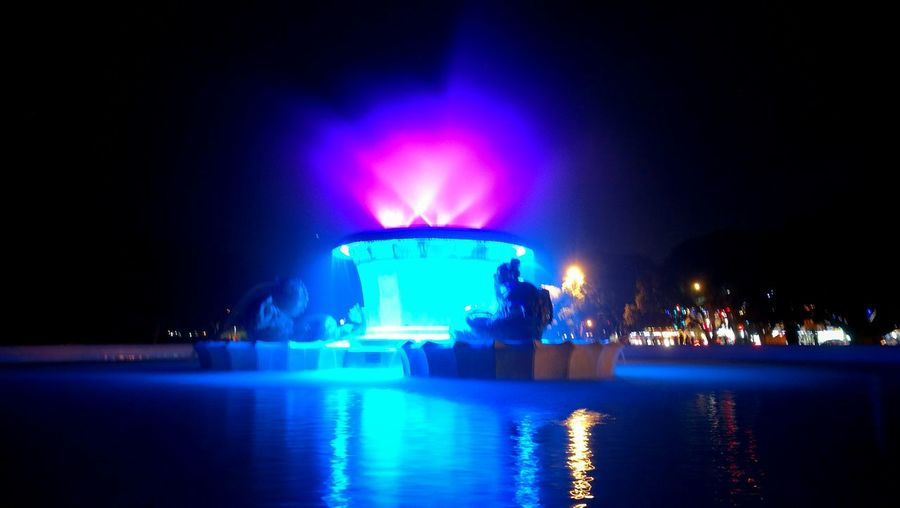 The OO Mission Fountain Night Nightshot Takeby HuaweiP9plus SuparGusCollection Colourful Beach Missionbay Auckland New Zealand