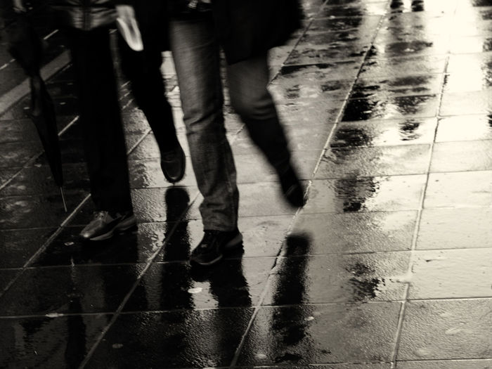 Street Black And White Photography Cityscape Large Stones Lifestyle Photography Mood Rain Shadow Urban Walking