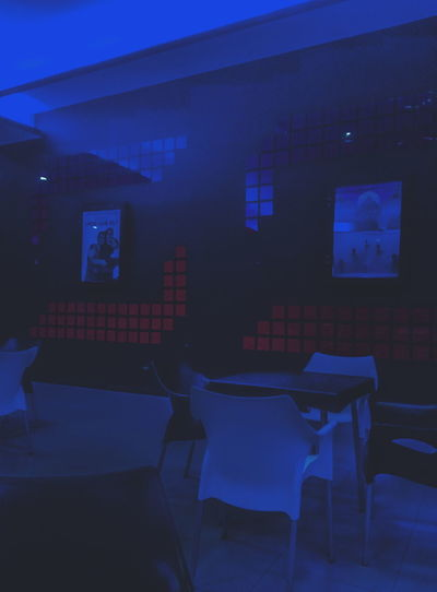 Blue Absence Indoors  No People Chair Nightphotography Colombia ♥  Santa Marta, Colombia Nigth 🌜⭐️