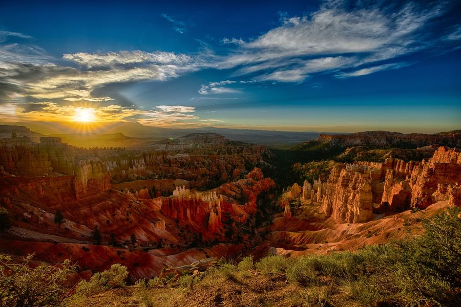Bryce Canyon Sunrise Bryce Bryce Canyon Mountain Mountain Range Mountain View Nature Sky Sky And Clouds State Parks Sunrise Sunset