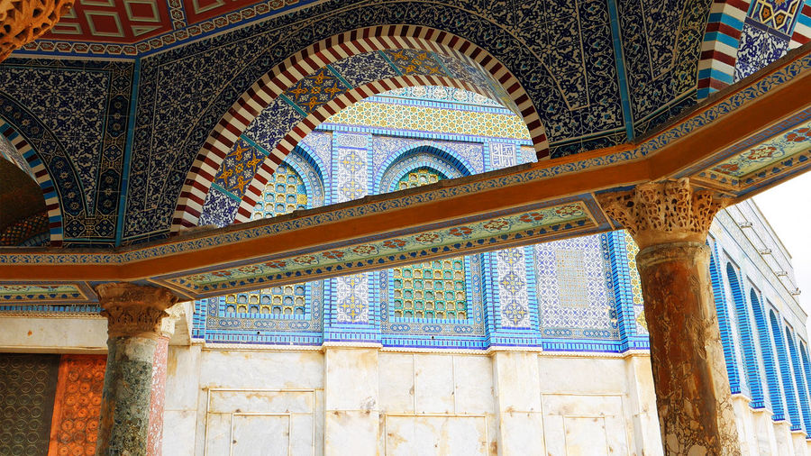 Architecture Building Exterior Built Structure Day Dome Of The Rock Dome Of The Rock Jerusalem Low Angle View Multi Colored No People Outdoors Place Of Worship An Eye For Travel The Architect - 2018 EyeEm Awards