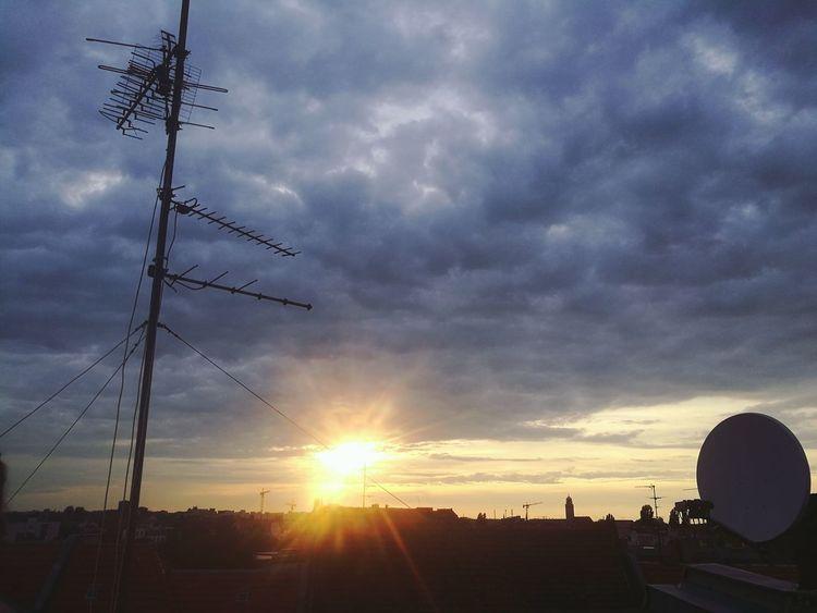 Sunset City Silhouette Sun Sky Built Structure Cloud - Sky