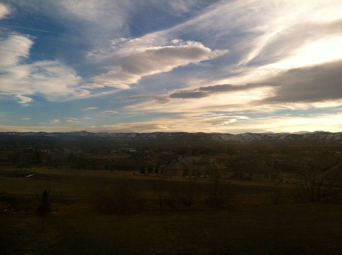 Taken while on a train at dusk. Atmosphere Cloud Denver Evening Majestic Remote Sky Tranquil Scene
