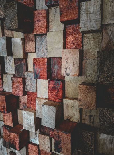 Full frame shot of wooden blocks