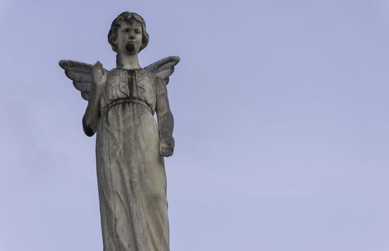 Photo of a Angel statue Angel Angel Statue Church Outdoors Portrait Of An Angel Statue Religion Sculpture Statue