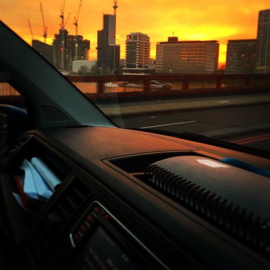 On Way To Work Sunrise Morning Thames