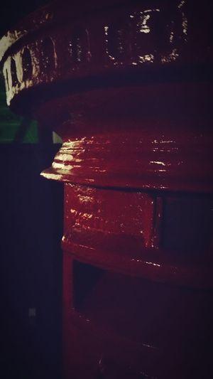 Red Post Box Nightphotography Post Box  The Cabin Dark Shadow
