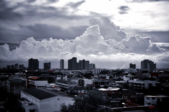Rainy Season Clouds Building Exterior Cloud - Sky Sky Architecture Built Structure City Building Cityscape Nature Urban Skyline