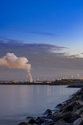 Hartlepool Marina 14th October 2018 Hatlepool Teesside North East England North East England England, UK Europe Coast Coastal Feature Industry Industrial Sky Building Exterior Water Smoke - Physical Structure Factory Pollution Emitting Architecture Environmental Issues Smoke Stack Air Pollution Cloud - Sky Environment Fumes