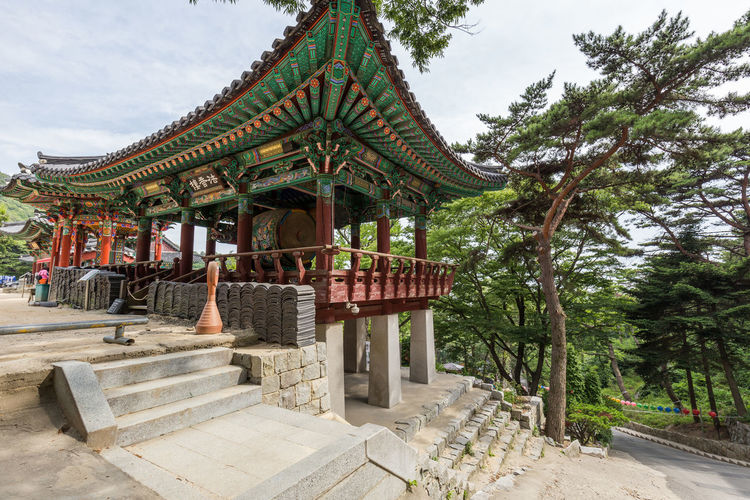 Traditional Korean Temple. Traditional South Korea Temple Temple - Building Temple Architecture Colorful Wooden Wooden Building Art Culture Culture And Tradition Historic History History Architecture Dancheong Architecture Photography Travel Photography Travel Tree Architecture