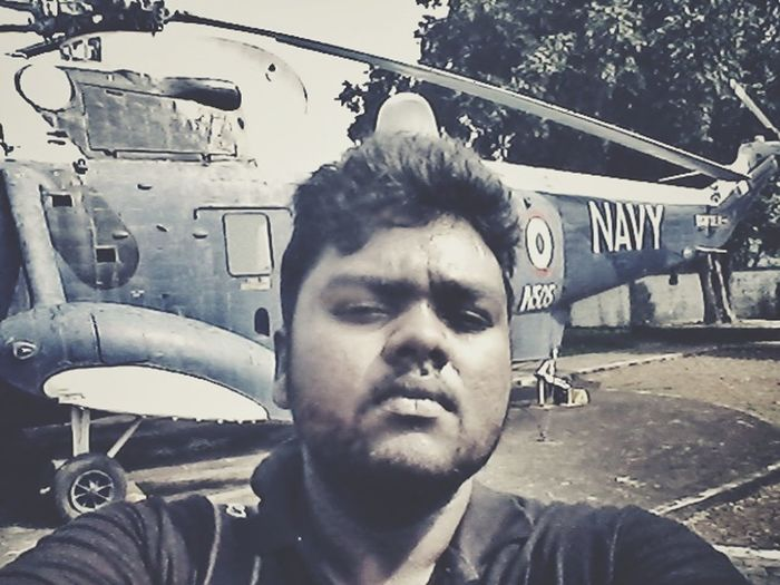 I usually dont take a selfie . but when i do, there is a huge Navy helicopter behind me . Helicopter Selfie ThatsMe Beard