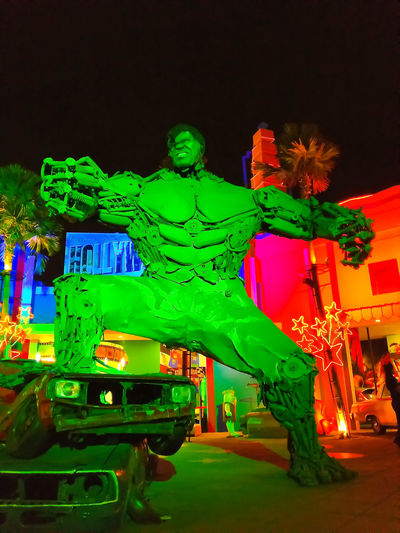 All The Neon Lights The Hulk Hulkamania Hulk Colors Green Green Color Neon Color MightY Power Museum Of Transportation Batu INDONESIA Power Powerful Night Night Lights Night Photography Green Body Muscle Muscleman Transformation Man Angry Angry Face Angry Man