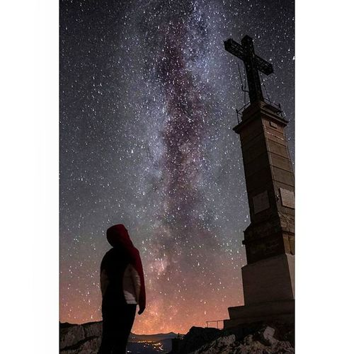 - ➖ - C o m p o s i n g - ➖ - M i l k y w a y - ➖ - S t. V i c t o i r e - ➖ Milkyway Aixenprovence Aix France Gopro Hero4 Cloudporn Amazing Beautiful Stars Goprovip Goprodreams Awesome Sky Summer Nature Erasmus Life Summer Trip Night Canon Mountain Montagne Stvictoire galaxy sunset packbackin Cross