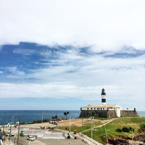 View of lighthouse on coast