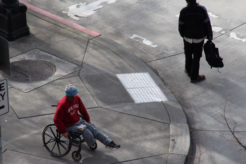Headless series EyeEmNewHere Headless Wheelchair Leg Seattle Washington