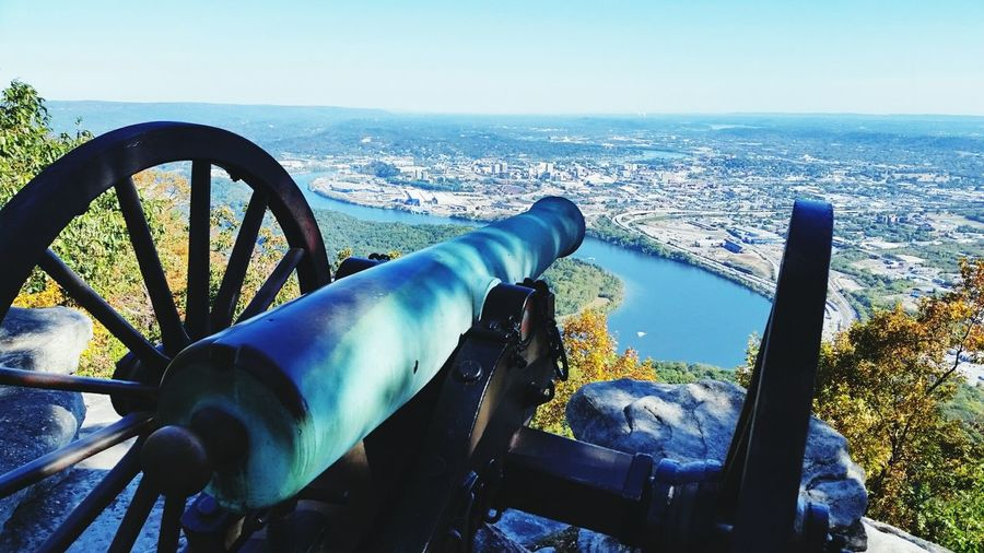 Cannon Point Park Chattanooga, Tennessee Lookout Mountain Civil War Battlefield Moccasin Bend Mountain Views Tennessee River  Vistas Sky Cityscape