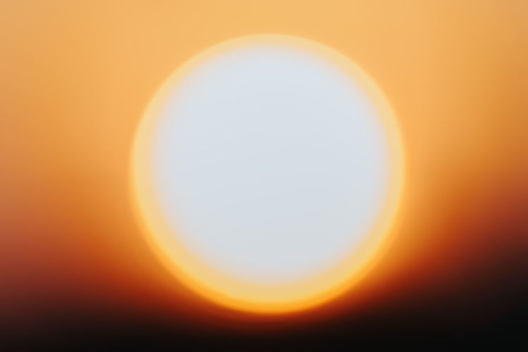 Close-up of sun during sunset