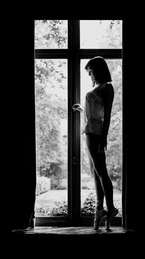 Ballet Ballet Dancer Ballet Shoes That's Me Window Pointes Blackandwhite Model Darkness And Light