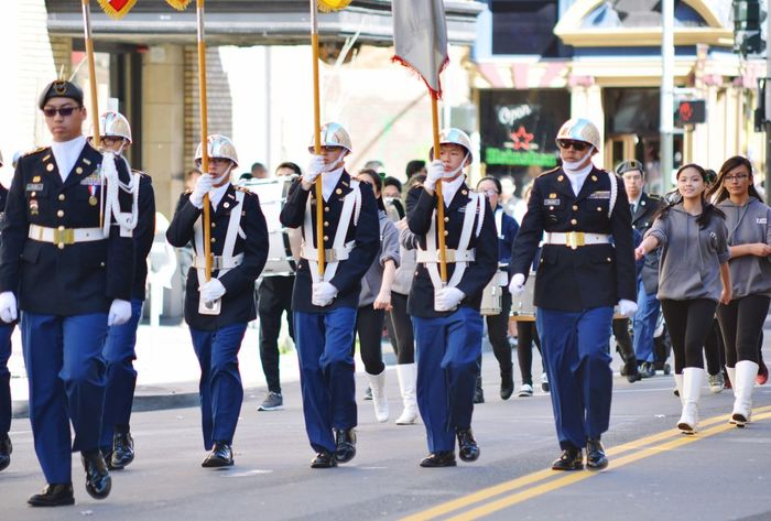 Cadets @ the St. Patrick's Parade in San Francisco Full Length Large Group Of People Real People Women Teamwork Togetherness Mature Women Men People Adult Day City Downtown District Musician Outdoors Community Young Adult Adults Only The Photojournalist - 2017 EyeEm Awards