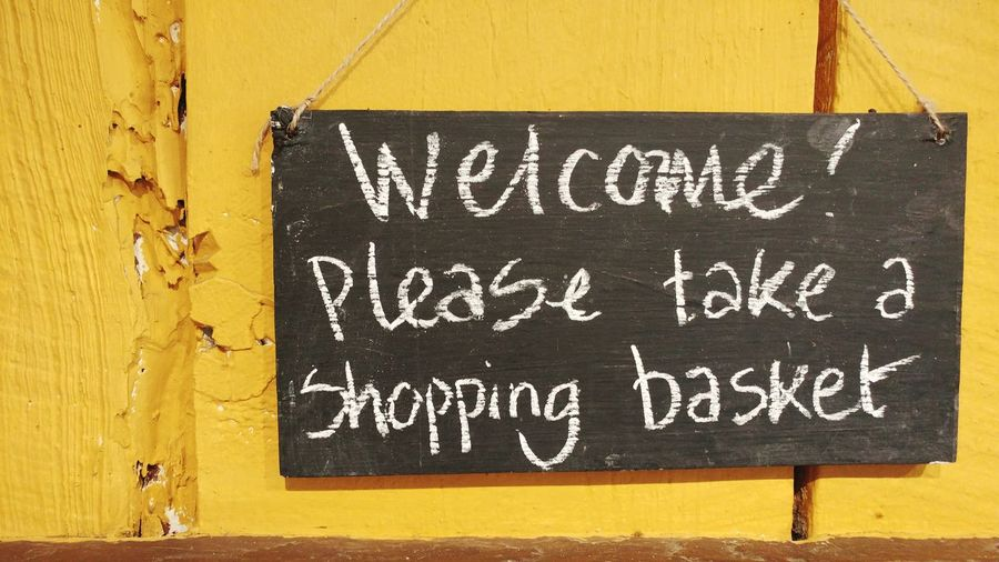 Always glad to grab a basket and start shopping! Text On Chalkboard Handwriting  Shopping Time Helping Customers Shopping In Store Words In English
