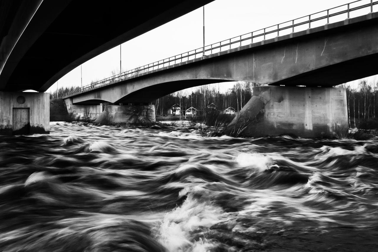 VIEW OF BRIDGE BELOW WATER