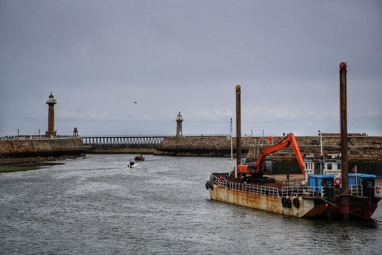 Whitby Whitby Whitby Abbey Water Transportation Waterfront Architecture Built Structure Sky Nautical Vessel Nature Industry Mode Of Transportation No People Sea Building Exterior Connection Day Outdoors Bridge Factory