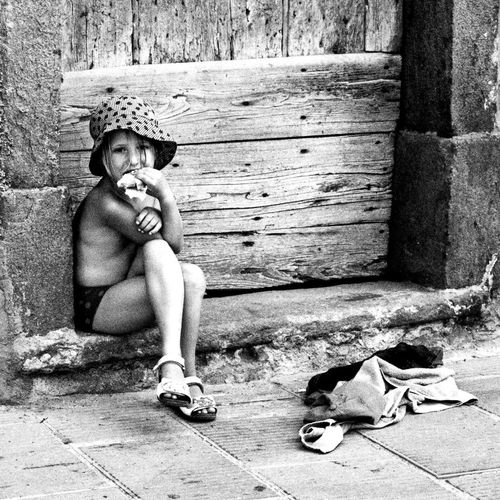 No name Sitting Cinque Terre Blackandwhite Summer Holiday Lunch Time!