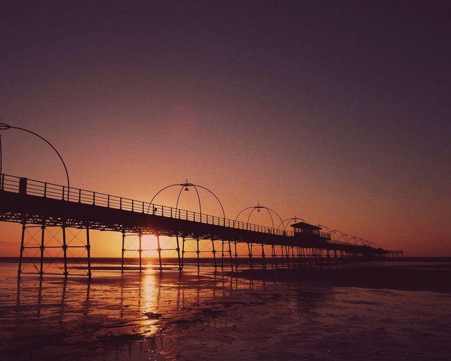 Sunset on Southport beach