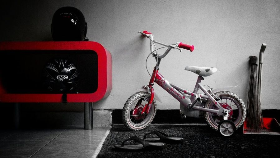"""""""Parking Park"""" Bicycle Kid & Mom Kids And Toys On Your Bike My Black & White Photography"""
