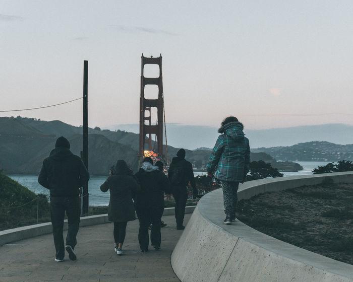 Family Golden Gate Bridge Lifestyles Memory Outdoors People San Francisco Setting Sun