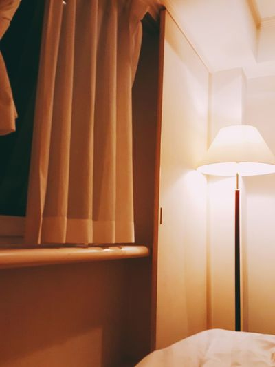 Warm lamp in the bedroom Bed Indoors  Bedroom Day No People Architecture Close-up Bed Side Bedroom Table Bedroom Window Bedroom Lights At Night Bedroom Curtains EyeEm Selects