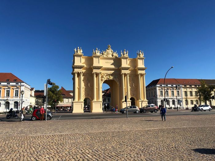 Luisenplatz Potsdam Brandenburger Tor Potsdam Potsdam Germany IPhone X Photography IPhone X Germany Architecture Travel Destinations Sky Built Structure Travel History The Past Monument Triumphal Arch Tourism City Building Exterior Clear Sky Nature Incidental People Memorial Blue Arch Group Of People Outdoors