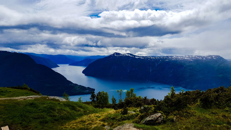 Fjord Norway Cloud - Sky Water Lustrafjord EyeEm Nature Lover Beauty In Nature EyeEm Dramatic Sky Wilderness Area Extreme Terrain Dramatic Landscape Go Higher