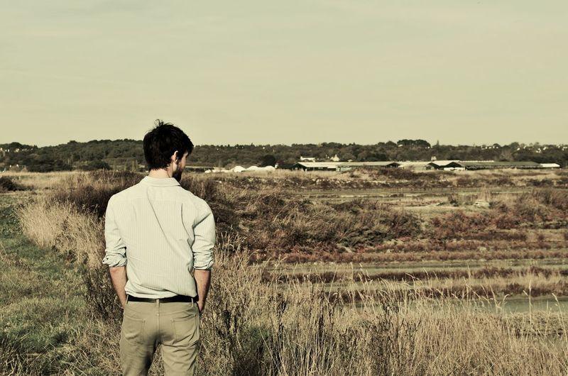 Breathe Enjoy Homme Landscape Marais Salants Nature Walk échapper