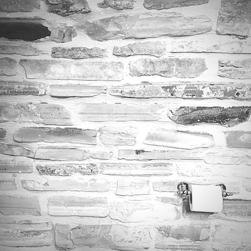 Brick Wall Brick Bricks Wall Toiletpaper Toilet Paper Paper Toilet Black And White Black & White Black And White Photography Bathroom Fine Art Photography Monochrome Photography