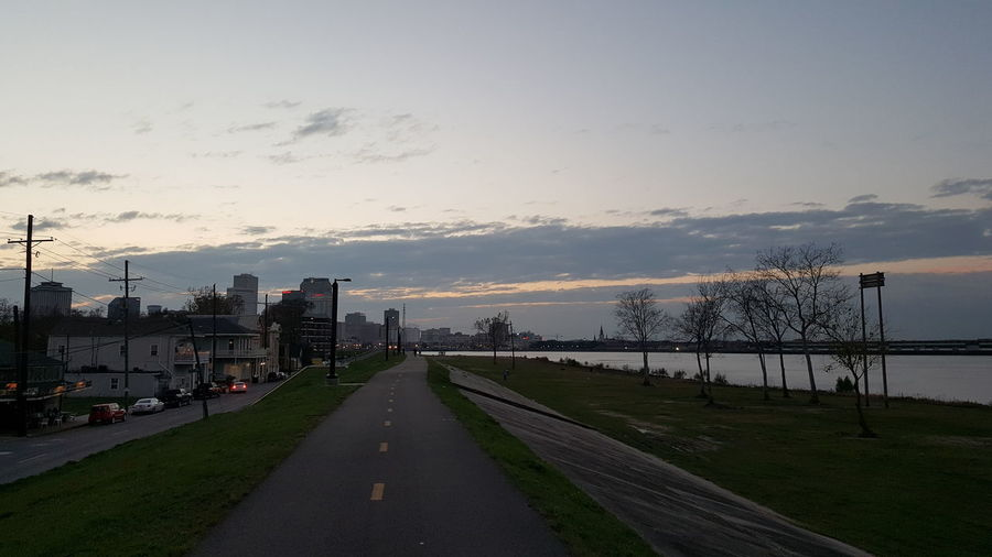 New Orleans Mississippi River Dusk Pretty Sky