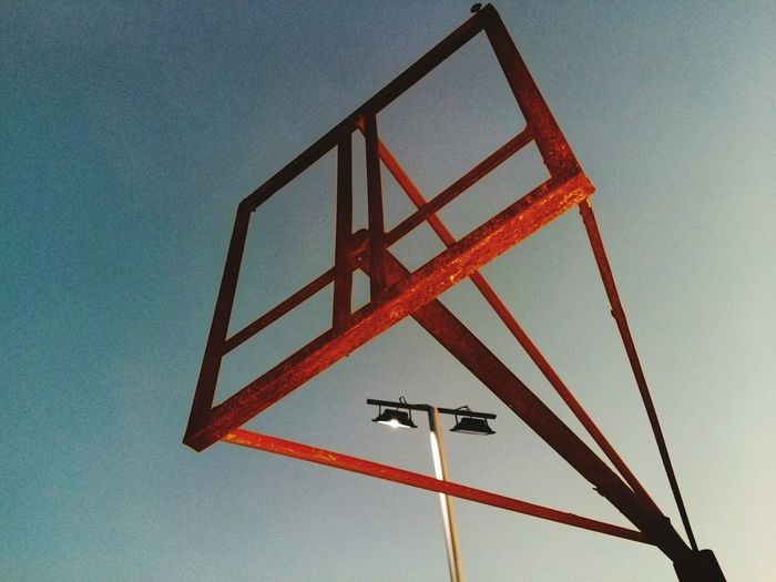 Minimalism Low Angle View No People Day Clear Sky Basketball Hoop Sky Built Structure Outdoors Architecture
