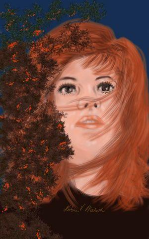Wide eyed Painting Acrylic