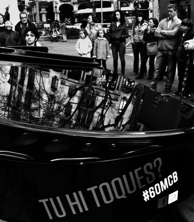 10 pianos in the street. 60 anys Concurs Int. Maria Canals Streetphoto_bw Blackandwhite AMPt_community Streetphotography