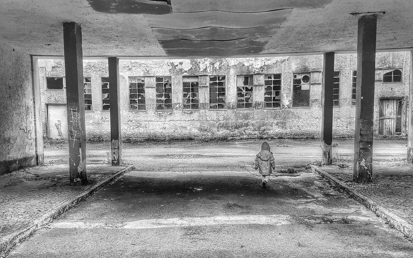 AntiM Childhood Despair Destruction Architectural Column Architecture Blackandwhite Built Structure Childhood Day Despair Indoors  No People One Child One Child Only One Person Poor Childhood Sad & Lonely Sad Child Sad Childhood The Week On EyeEm