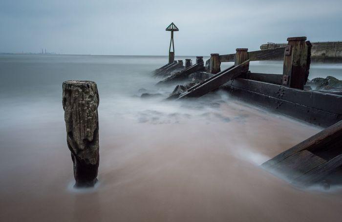 Blyth Beach on a gray sky day North Sea Grey Grey Sky Sea Beach Seascape Blyth Northumberland Coastline Northumberland