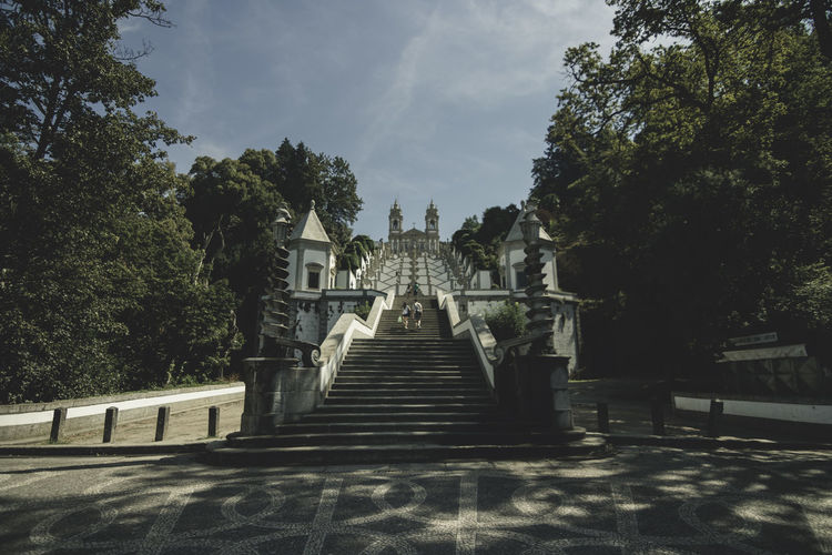 Architecture Bannister Day Entrance Formal Garden Green Color Growth History Low Angle View No People Outdoors People And Places Railing Sky Staircase Stairs Stairway Steps Steps And Staircase Steps And Staircases The Way Forward Tourism Travel Destinations Tree