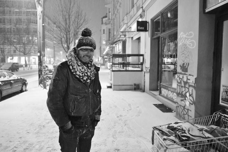 Berlin City City Life Kastanienallee  Outdoors Person Prenzlauer Berg S/w Standing Trzoska Warm Clothing Winter Winter